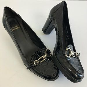 STUART WEITZMAN Patent Leather Loafer Pumps 8M
